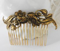 Hair comb, by crushjewels on etsy.com