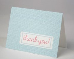 Thank-you cards, by tickledpinkpaperie on etsy.com