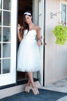 Knee-length dress - US$428, by TheLittleWhiteDress on etsy.com