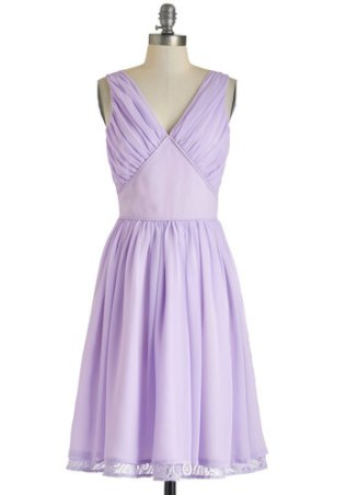Ooh La Lavender dress, from modcloth.com