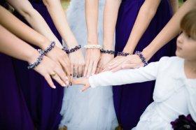 Pearl cluster bracelets, by skyejuice on etsy.com