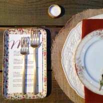 Table setting at Cacee Cobb and Donald Faison's wedding