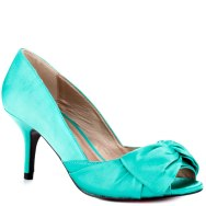 Best One Yet aqua satin Luichiny heels, from heels.com