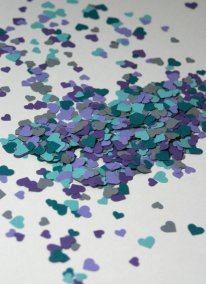 Heart confetti, by LucyKayeDesigns on etsy.com