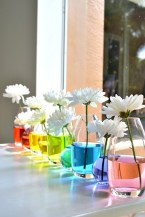Rainbow centrepieces
