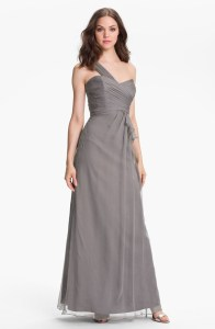 Amsale One Shoulder Silk Gown, from nordstrom.com