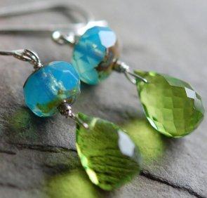 Earrings, by hamptonjewels on etsy.com