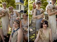 Bridesmaids in 1920s dresses