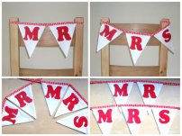 Chair bunting, by lilacelephant on etsy.com