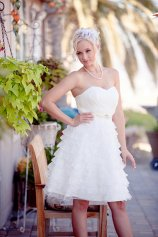 Ruffled reception dress, by TheLittleWhiteDress on etsy.com