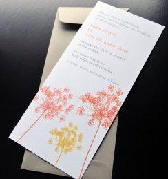 Wedding invitation, by crescentmoonpaper on etsy.com