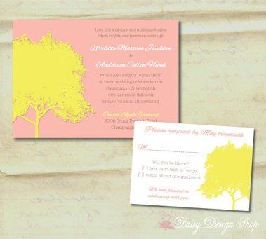 Wedding invitation, by DaisyDesignShop on etsy.com