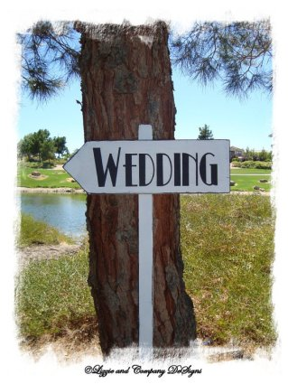 Wedding sign, by lizzieandcompany on etsy.com