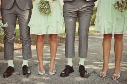 Mint and grey bridal party {via bridesmaid.com}