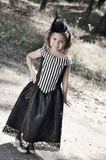 Steampunk flower girl dress, by AmandaJoandMe on etsy.com