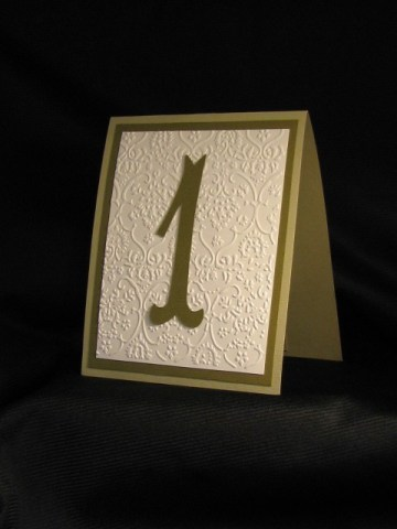 Table numbers, by MyFavorsandFlowers on etsy.com