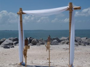 Bamboo arch, by BeachCeremonySupply on etsy.com