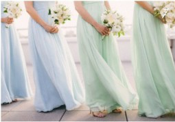 Bridesmaids in mint and blue dresses {via http---simplysouthernwedding.wordpress.com}