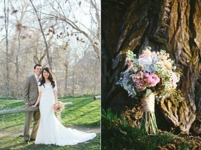 Grey and dusty rose wedding colours {via calierose.com}
