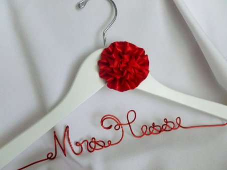 Personalised dress hanger, by HandmadeAffair on etsy.com