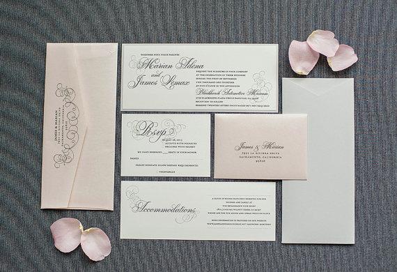 Wedding invitation, by LamaWorks on etsy.com