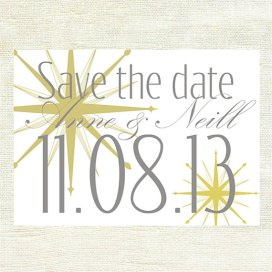 Save the date, by GoldenSilhouette on etsy.com
