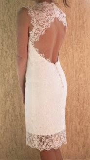 Short wedding dress (US$275), by PolinaIvanova on etsy.com