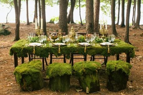 Amazing woodland wedding reception! {via mark-davidson.com}