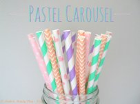 Paper straws, by ModernMandyShop on etsy.com