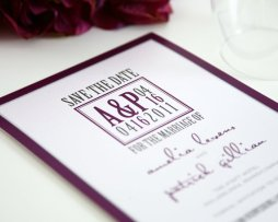 Save the date, by shineinvitations on etsy.com