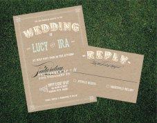 Wedding invitation, by blacklabstudio on etsy.com