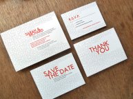 Wedding invitation suite, by empapers on etsy.com