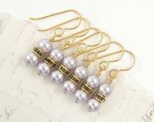 Bridesmaid earrings, by BeautifulByCharlene on etsy.com