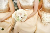 Gold bridesmaid dresses, by dahlnyc on etsy.com