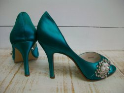 Jade wedding heels, by Parisxox on etsy.com