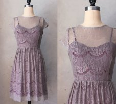 Lace bridemaid dress, by FleetCollection on etsy.com