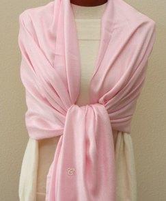 Light pink pashmina, by ClassyWedding on etsy.com