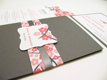 Pocketfold wedding invitation suite, by JutingDesignStudio on etsy.com