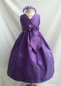 Purple flower girl dress, by NollaCollection on etsy.com