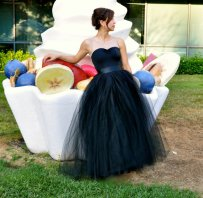 Black tulle bridal gown, by TutusChicBoutique on etsy.com