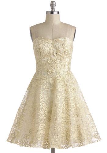 Gold bridesmaid dress - www.modcloth.com/shop/dresses/goodnight-swoon-dress
