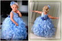 Periwinkle flower girl dress, by DaisiesandDamsels on etsy.com