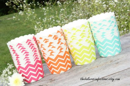 Chevron cupcake liners - www.etsy.com/shop/thebakersconfections