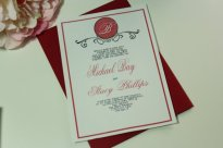 Oxblood wedding invitation - www.etsy.com/shop/LovableInvitations