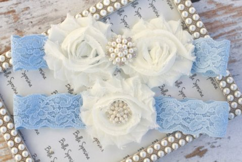 Power-blue garter - www.etsy.com/shop/BellaSposina