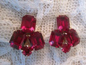 Ruby-red earrings - www.etsy.com/shop/TheLittlestSister