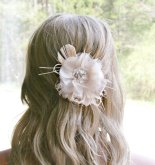 Blush and ivory hair accessory - www.etsy.com/shop/FancieStrands