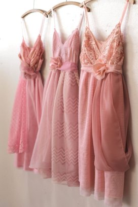 Customised pink bridesmaid dresses - www.etsy.com/shop/ArmoursansAnguish