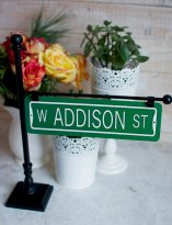 Customised street sign table numbers - www.etsy.com/shop/CathysCustomPrints