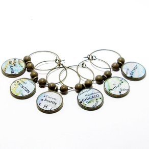 Customised wine charms - www.etsy.com/shop/BrassAndChain